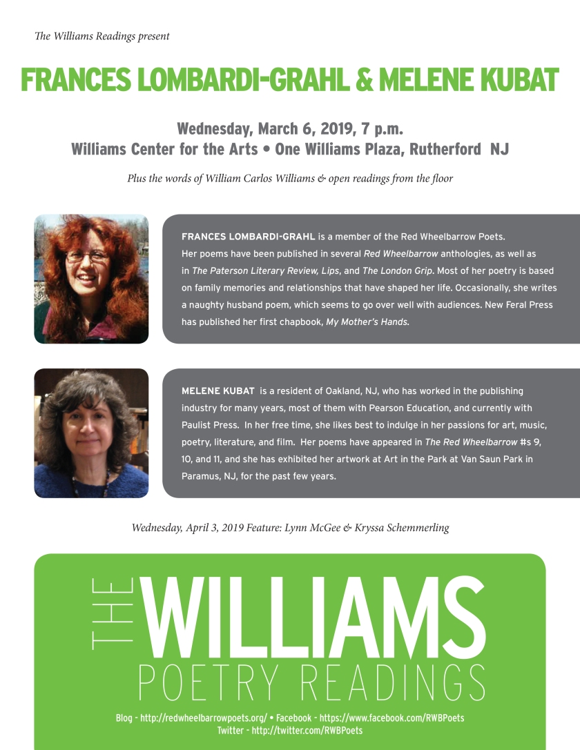 Williams Readings-Fran-Melenie-Mar2019.indd