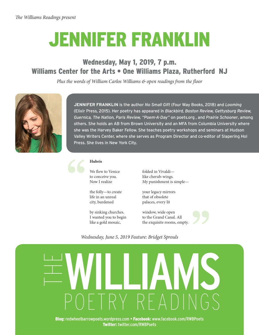 Williams Readings-JFranklin-May2019.indd